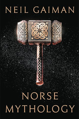 The Mjolnir Hammer is displayed center with a plain black background The title Norse Mythology is along the bottom